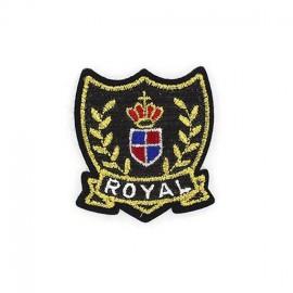 Royal Glitter Symbol iron-on applique - multicolored