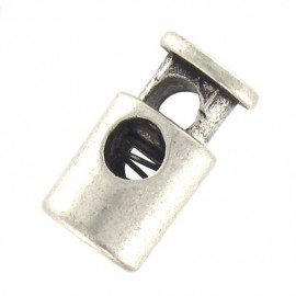 Metal cord lock Calvy - nickel-plated