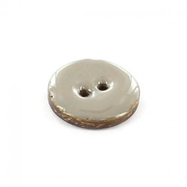 Coconut button, varnished - plain grege