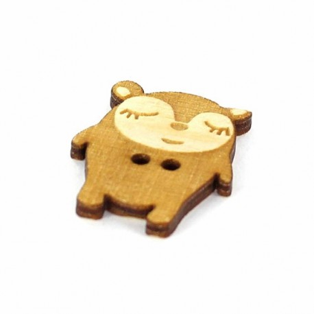 Wooden button, Paapii Design Hippu - brown