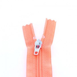 Closed bottom zipper - fluorescent dark orange