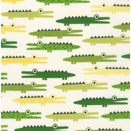 Tissu urban zoology crocodile ivory x10cm