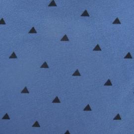 Tissu jogging Kolmiot bleu de pastel x 10cm