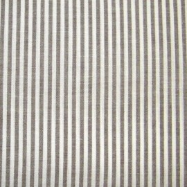 Small stripe fabric - brown x 10cm
