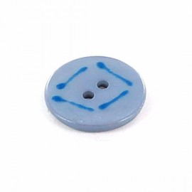 Button, Paint - blue