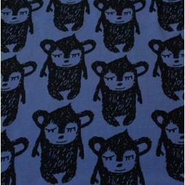 Tissu sweat léger Pikku Hippu bleu de pastel x 13cm