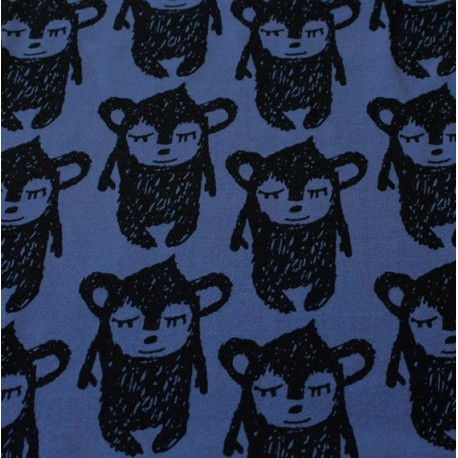 Jogging Pikku Hippu fabric bleu de pastel x 13cm