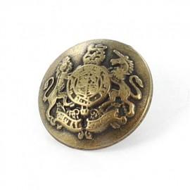 Metal button, Valten - brass