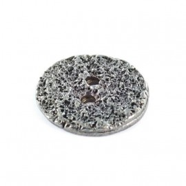 Bouton métal Loch aspect Nickelé noir