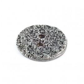 Metal button, Loch - black nickel-plated