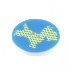 Polyester button, Scottie - sky blue