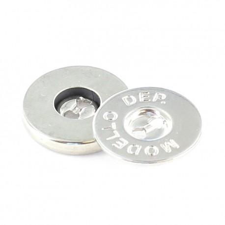 Bouton métallique Modello Nickelé x 18 mm