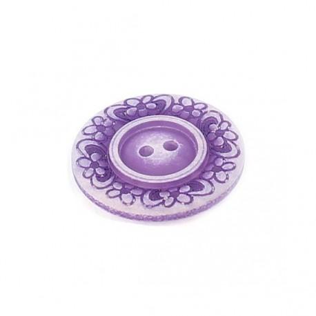 Bouton polyester Floral violet