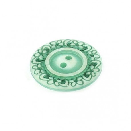 Bouton polyester Floral vert