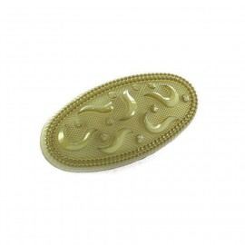 Polyester button, Oval-shaped, retro style - olive green