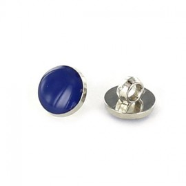 Polyester button, colored pastille - navy blue