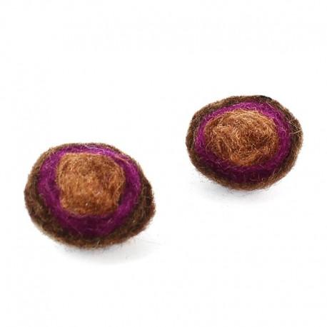 demi boule en laine bouillie marron marron clair x2 ma petite mercerie. Black Bedroom Furniture Sets. Home Design Ideas