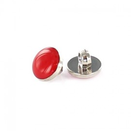 Polyester button, colored pastille - red
