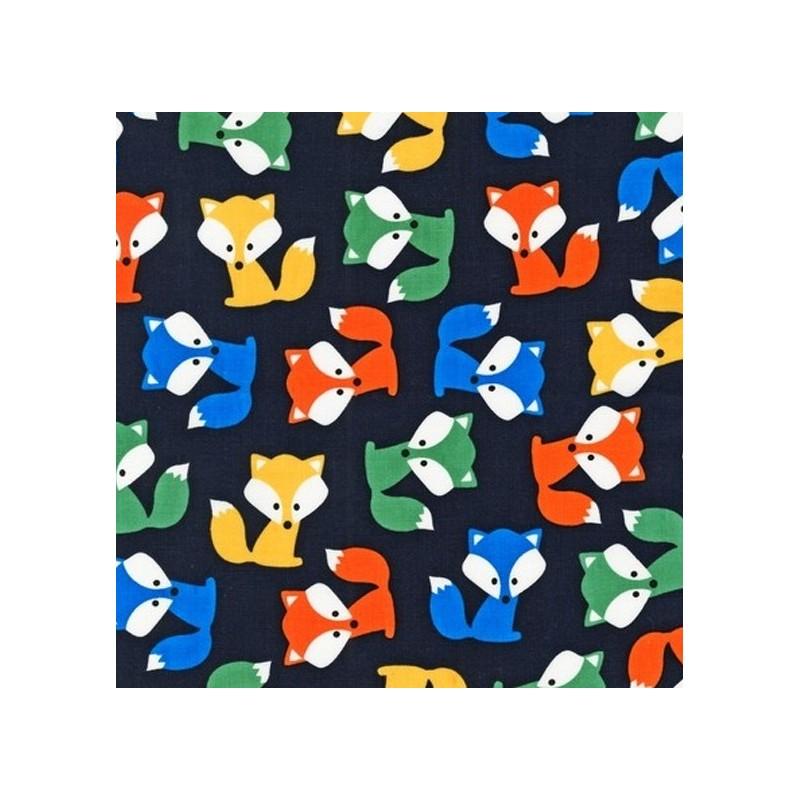tissu enduit zoiology coton renard x 10cm ma petite mercerie. Black Bedroom Furniture Sets. Home Design Ideas