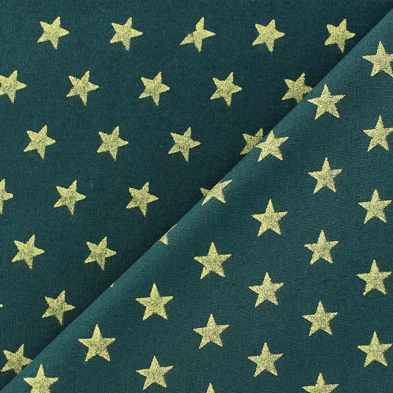 Tissus pas cher 100 coton tissu no l toiles dor fond vert sapin - Tissu noel pas cher ...