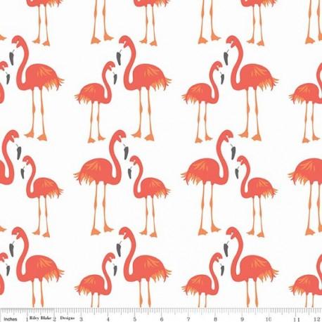 Fabric Lula Flamingo orange x 30cm