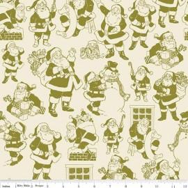 Tissu Christmas Santa green x 10cm