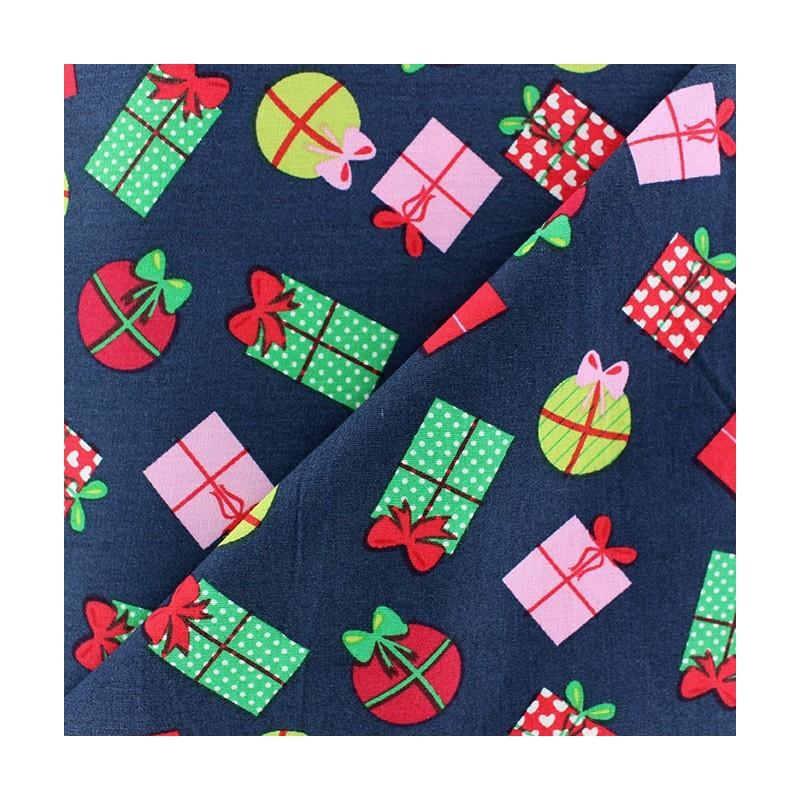 tissus pas cher 100 coton tissu no l cadeaux boules fond marine. Black Bedroom Furniture Sets. Home Design Ideas