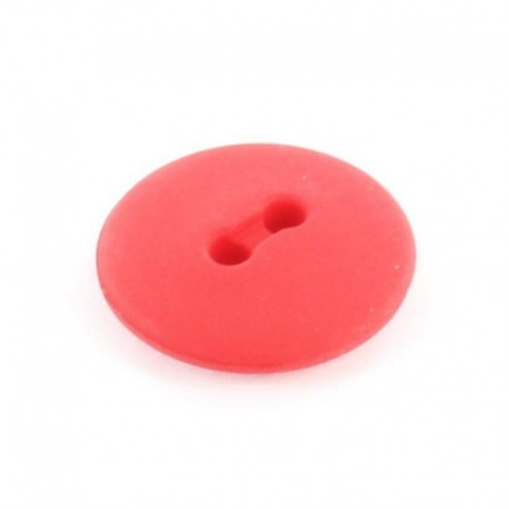 Bouton polyester rond Classic Rouge