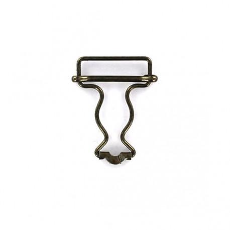 boucle salopette 32 mm bronze