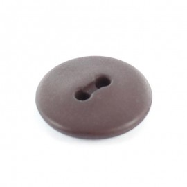 Bouton polyester rond Classic Aubergine