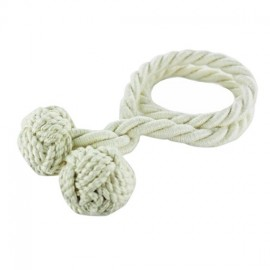 Rope curtain tieback - cream