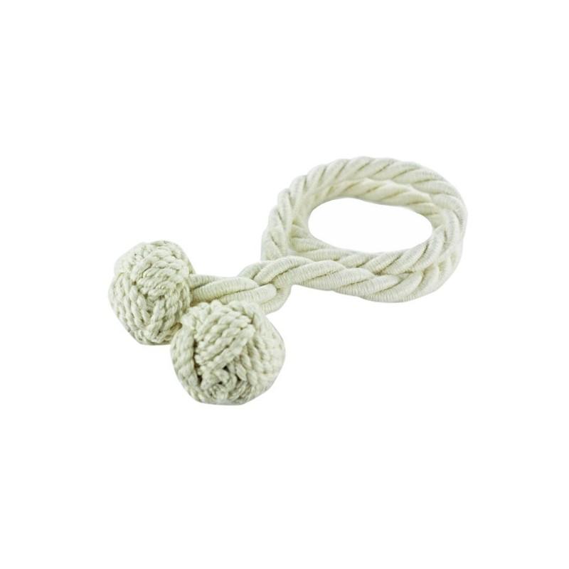 accessoire rideaux embrasse rideau flexible corde cr me mpm. Black Bedroom Furniture Sets. Home Design Ideas