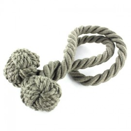 Rope curtain tieback - elephant gray