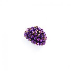 Bouton Swaro Violet x 26mm