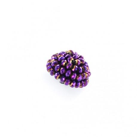 Button, Svaro, 26 mm - purple