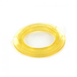 Oeillet à clipper plastique 40 mm translucide jaune