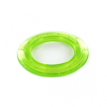 Plastic eyelet to clip 40 mm translucent - lime green