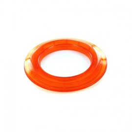 Plastic eyelet to clip 40 mm translucent - orange