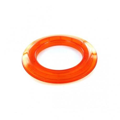 Plastic eyelet to clip 40 mm translucent - orange