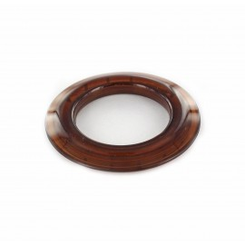 Plastic eyelet to clip 40 mm translucent - brown