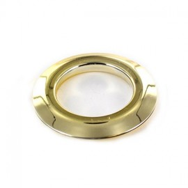 Oeillet à clipper plastique 40 mm métallique brillant doré