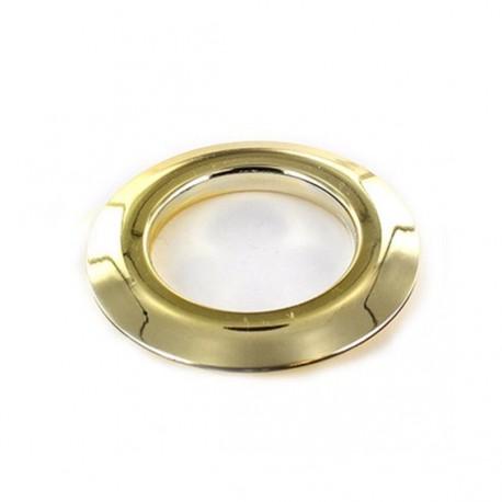 Plastic eyelet to clip 40 mm metallic - shiny golden