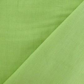 Tissu lin vert anis V2 x 10cm