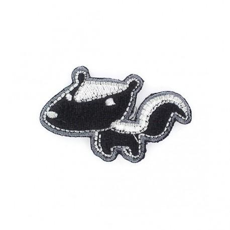 Polecat iron-on applique - black