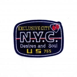 N.Y. C. Exclusive City iron-on applique - navy