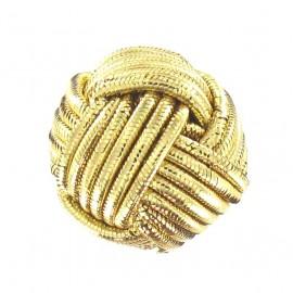 Wool ball button - golden