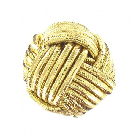 Bouton pelote doré