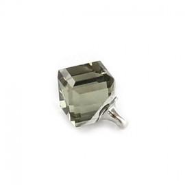Button Svaro, Cube - translucent grey