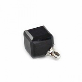 Bouton polyester Cube noir