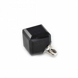 Cube-shaped Svaro button - black